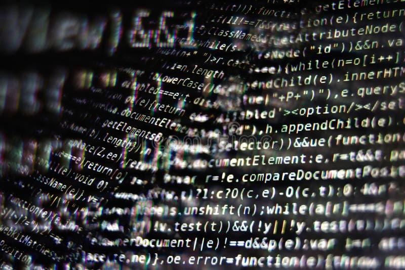 Programm-Code auf Schirm lizenzfreies stockbild