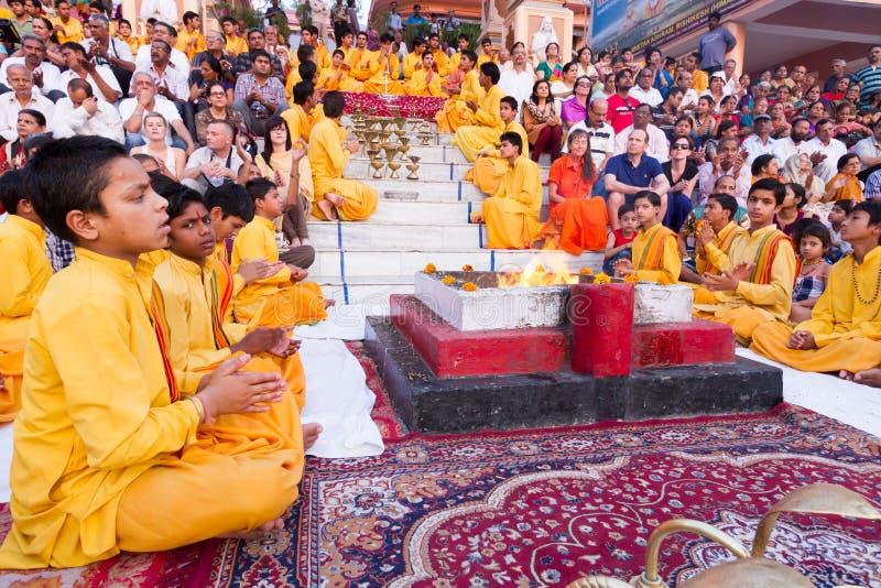 Programm Rishikesh Bhajan lizenzfreie stockbilder