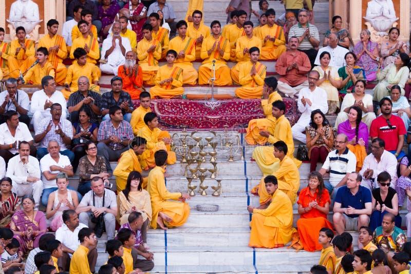 Programm Rishikesh Bhajan lizenzfreie stockfotografie