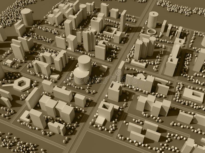 programma 3d della città illustrazione vettoriale