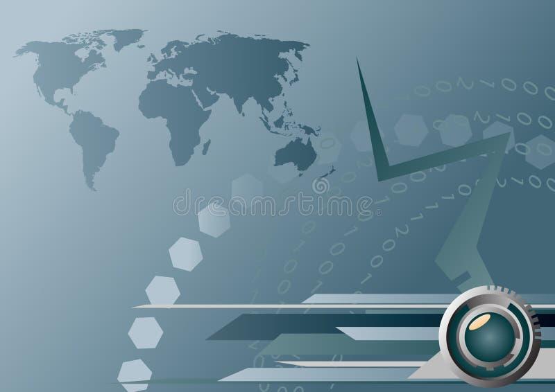 Programma alta tecnologia della terra royalty illustrazione gratis
