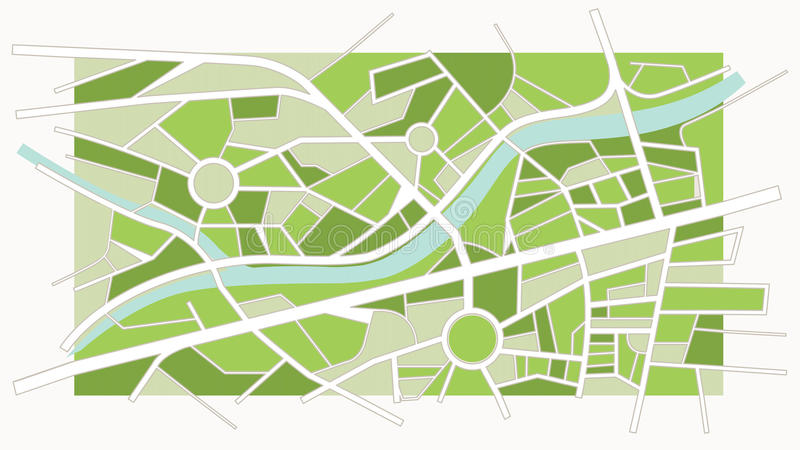 Programma astratto della città royalty illustrazione gratis