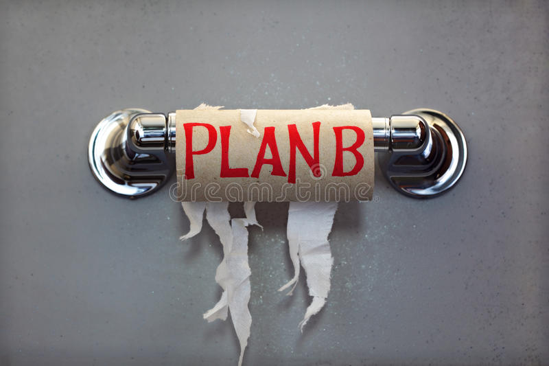Programma B per nessuna carta igienica fotografia stock libera da diritti
