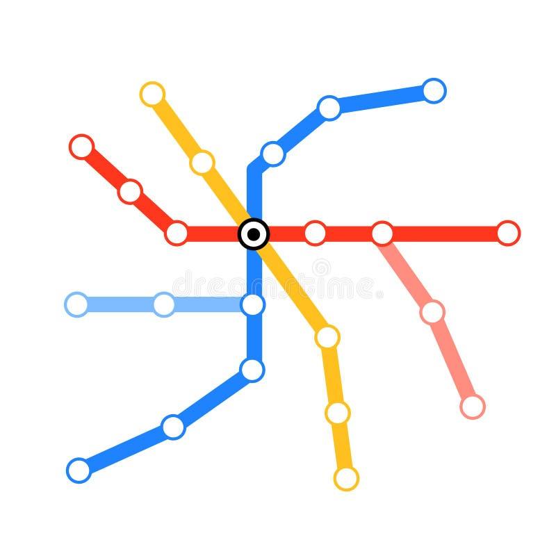 Programma in bianco della metropolitana del tubo illustrazione di stock
