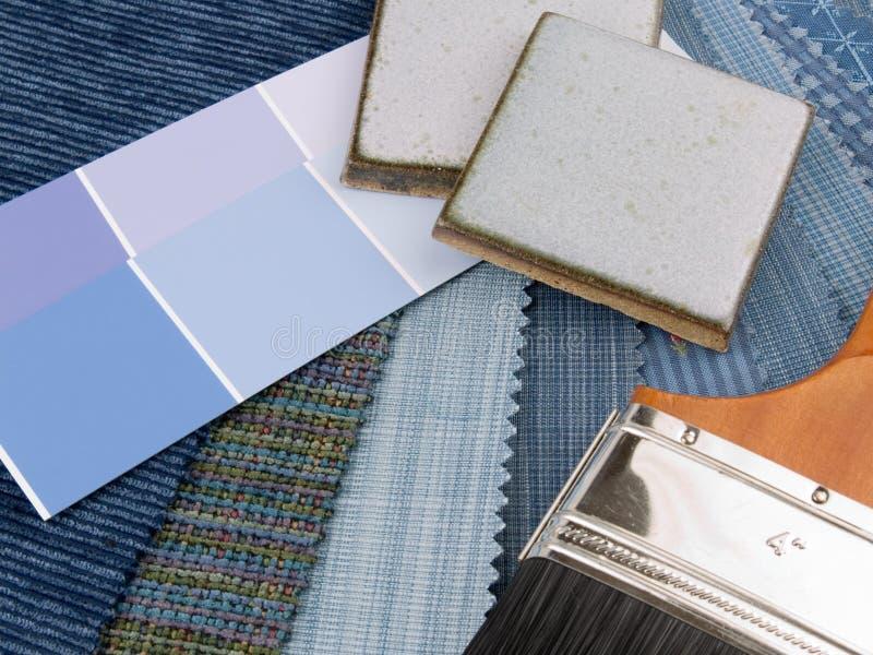Programma blu medio della decorazione interna fotografia stock