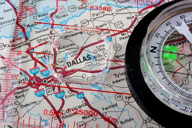 Programma Dallas fotografia stock libera da diritti