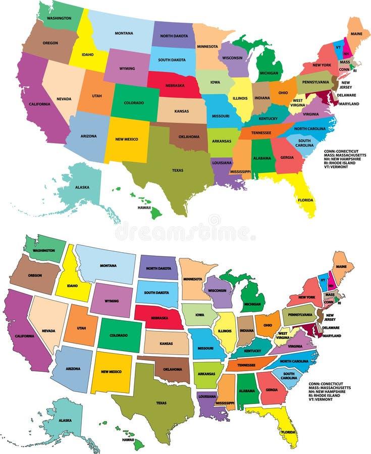 Programma degli S.U.A. di vettore illustrazione vettoriale