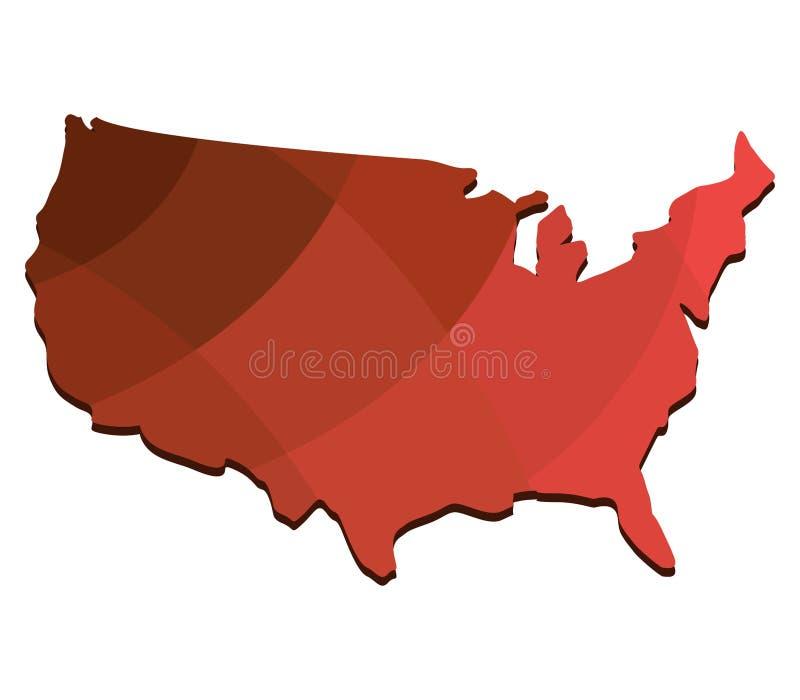 Programma degli Stati Uniti illustrazione vettoriale