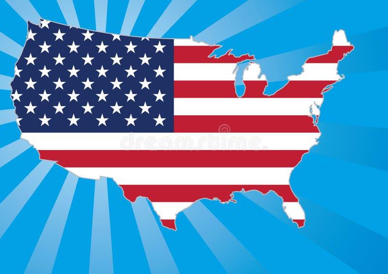 Programma degli Stati Uniti con le stelle e le bande illustrazione vettoriale