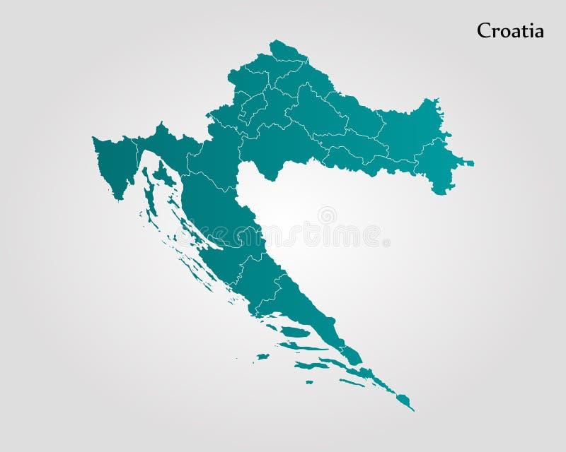 Programma del Croatia royalty illustrazione gratis