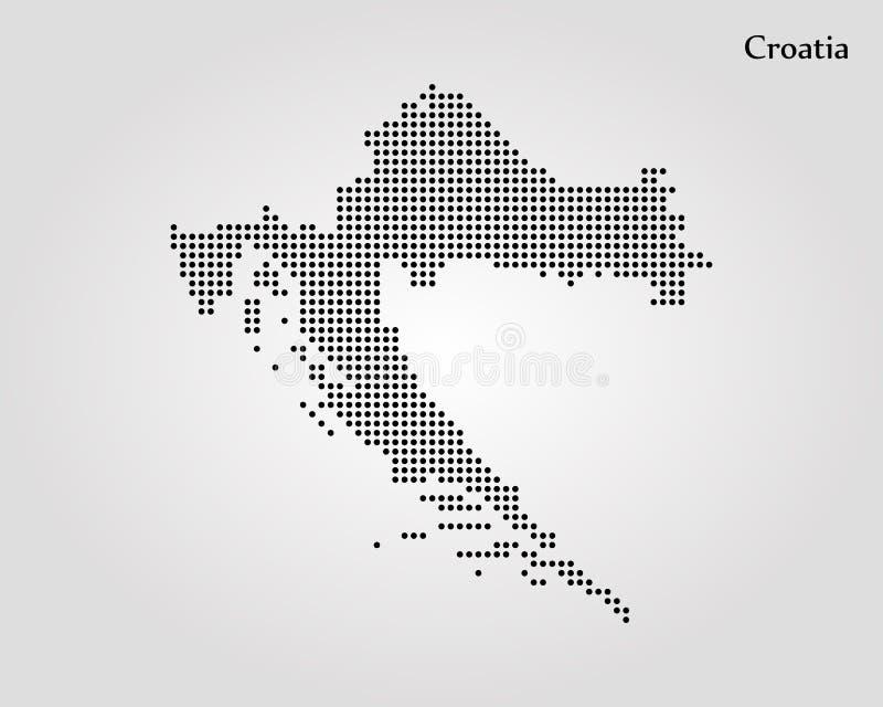 Programma del Croatia Illustrazione di vettore Programma di mondo illustrazione vettoriale