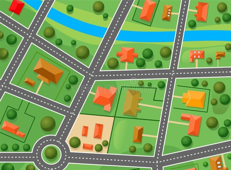 Programma del distretto del sobborgo illustrazione for Programma architettura gratis