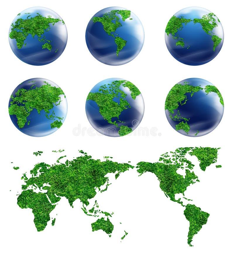 Programma del globo e del particolare dell'accumulazione del mondo illustrazione di stock
