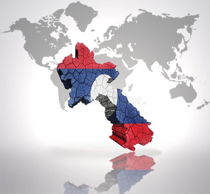 Programma del Laos illustrazione vettoriale