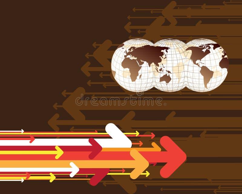 Programma del mondo e delle frecce illustrazione vettoriale