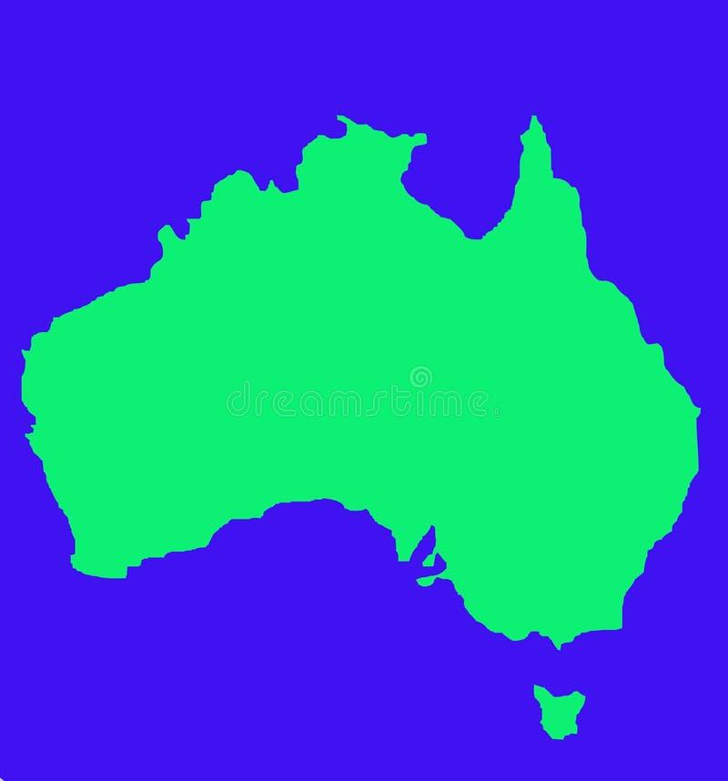 Mappa del profilo dell'Australia immagine stock