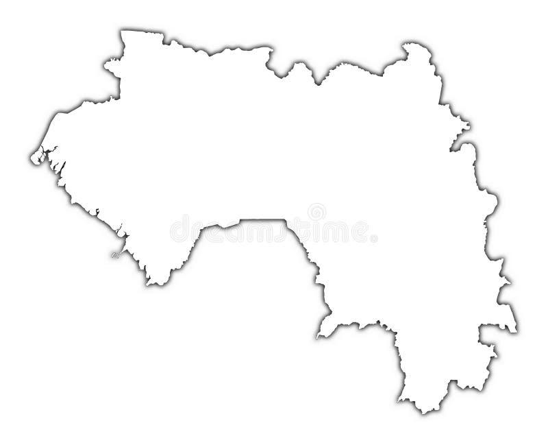 Programma del profilo della Guinea illustrazione vettoriale
