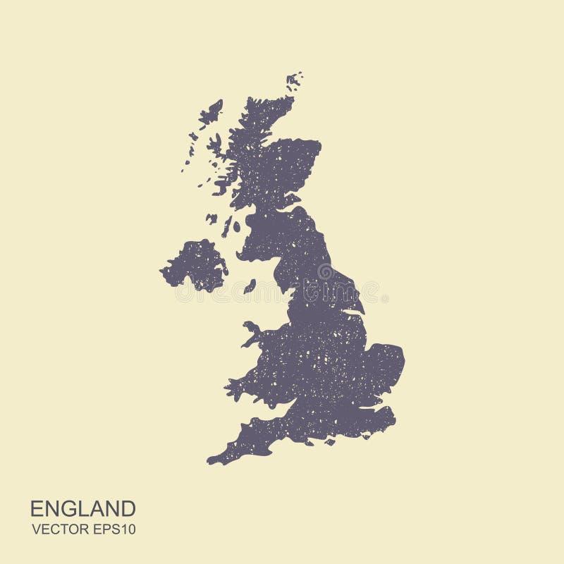 Programma del Regno Unito Icona piana con effetto scalfito illustrazione di stock