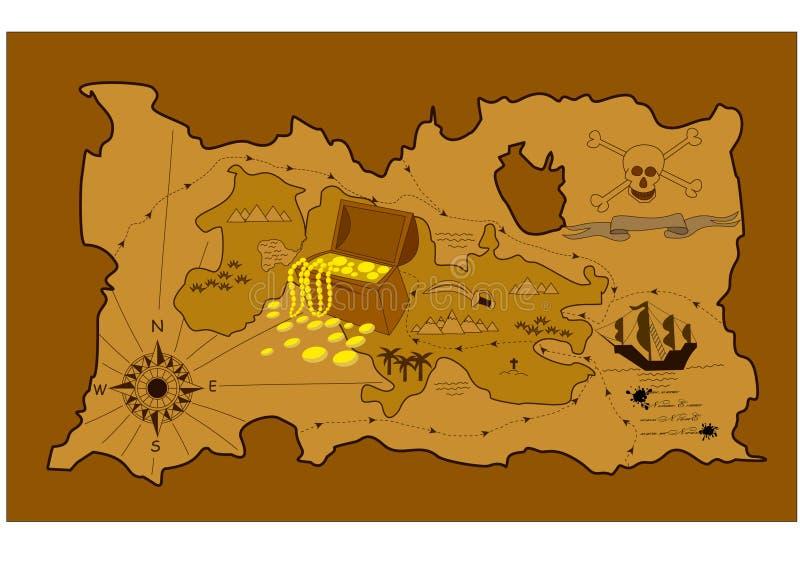 Programma del tesoro royalty illustrazione gratis