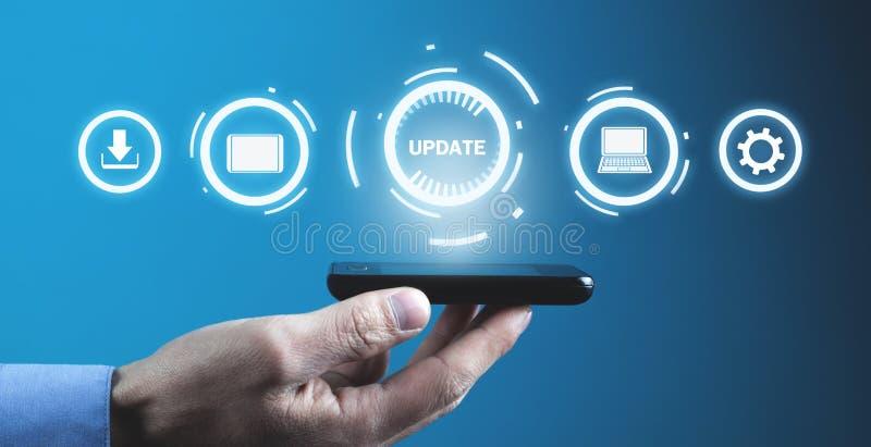 Programma dell'aggiornamento Affare, tecnologia, concetto di Internet fotografia stock libera da diritti