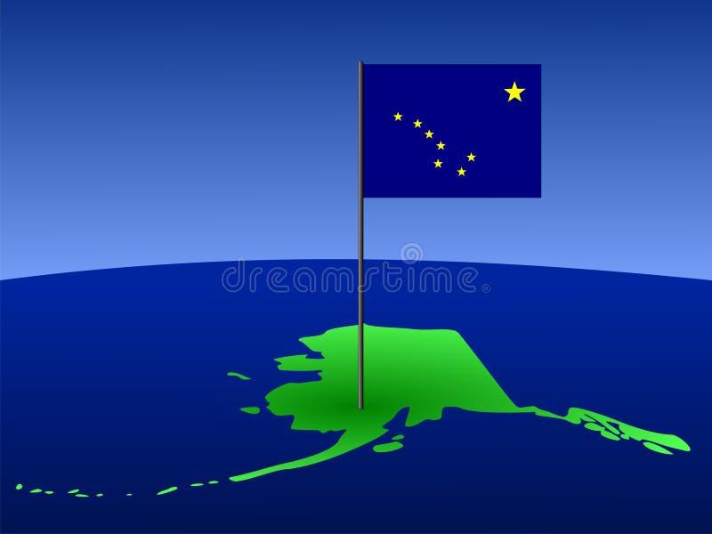 Programma dell'Alaska con la bandierina royalty illustrazione gratis