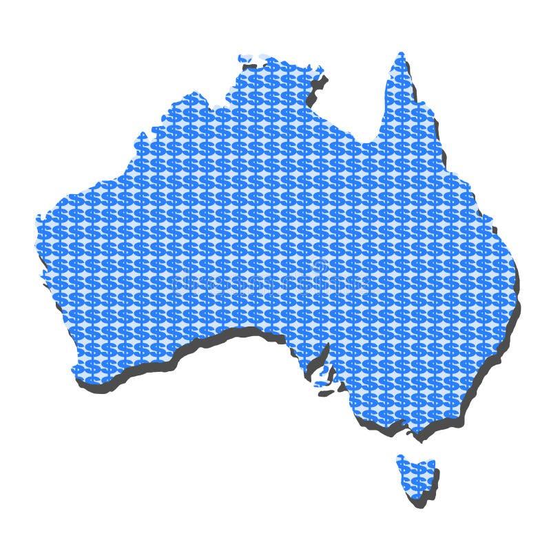 Programma dell'Australia con i dollari royalty illustrazione gratis