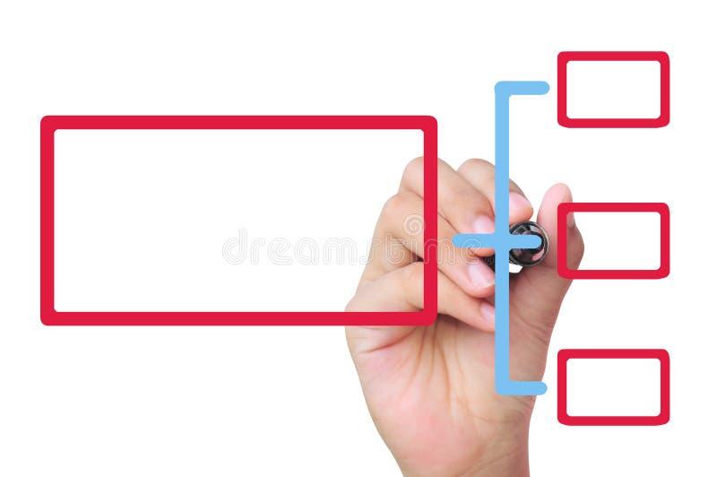 Programma dell'illustrazione della mano immagini stock