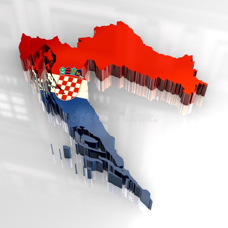 programma della bandierina 3d del croatia illustrazione di stock