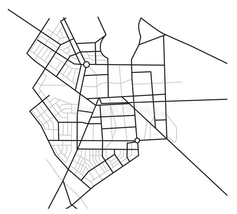 Programma della città - schema delle strade - vettore illustrazione vettoriale