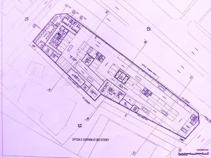Programma della costruzione dell'hotel fotografia stock libera da diritti
