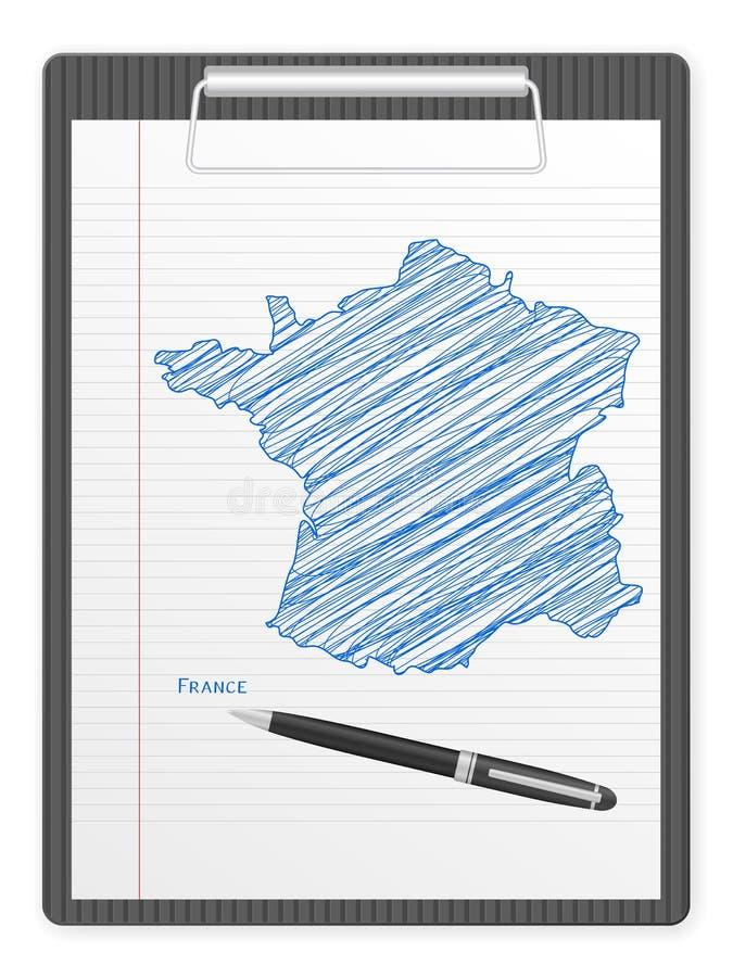 Programma Della Francia Dei Appunti Immagine Stock