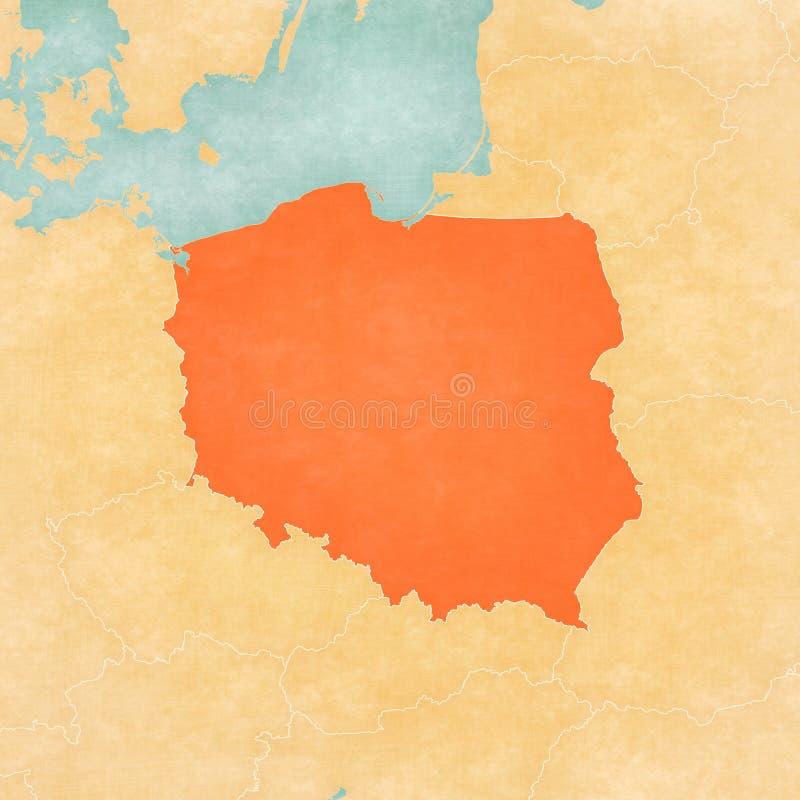 Programma della Polonia illustrazione di stock