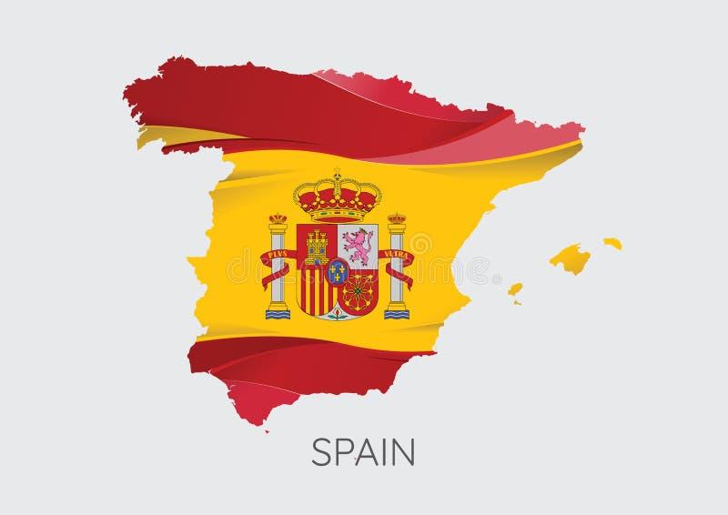 Programma della Spagna con la bandierina illustrazione vettoriale