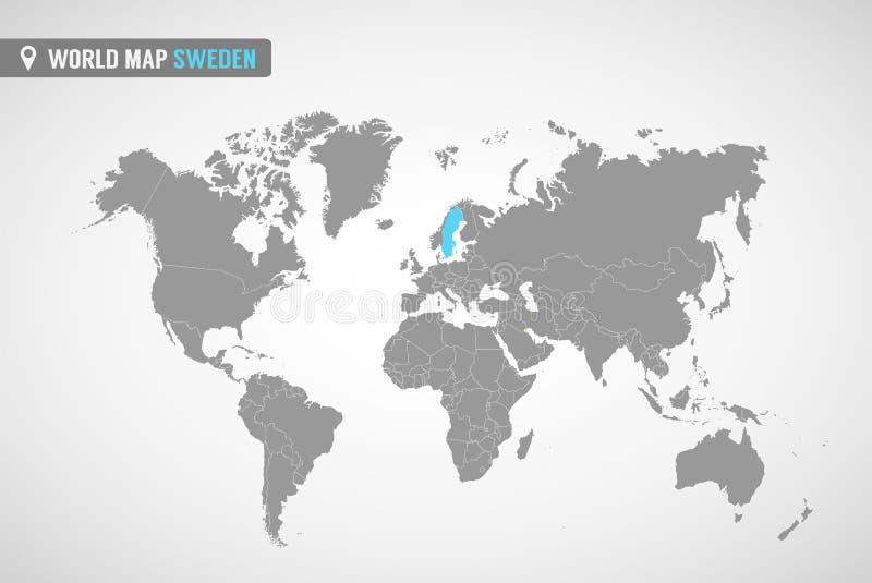 Programma della Svezia  Paesi di Europa illustrazione vettoriale