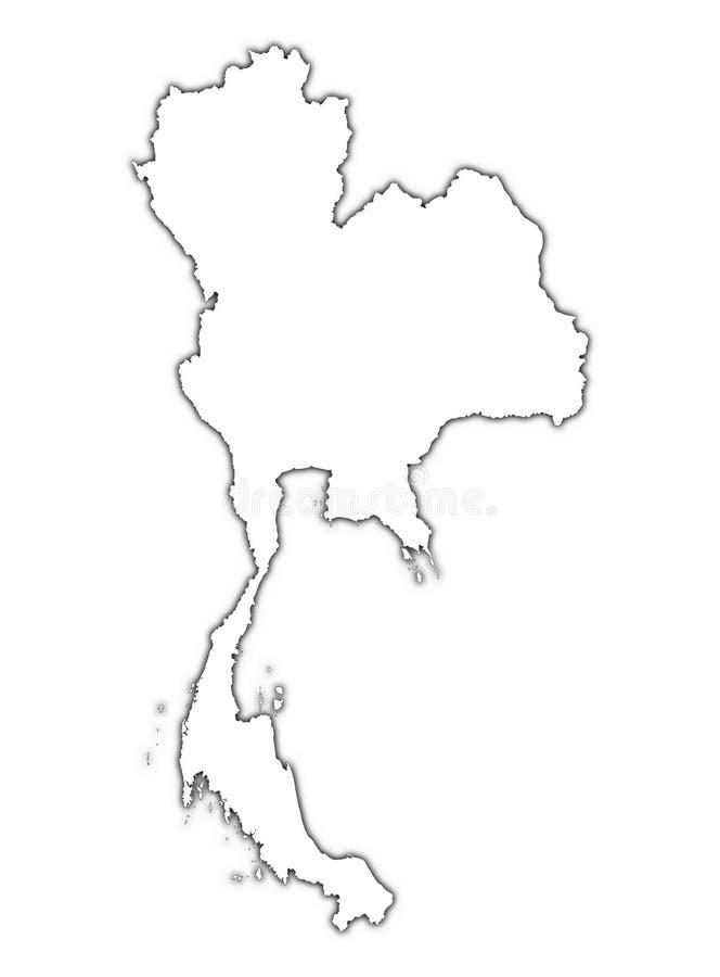 Programma della Tailandia con ombra illustrazione di stock