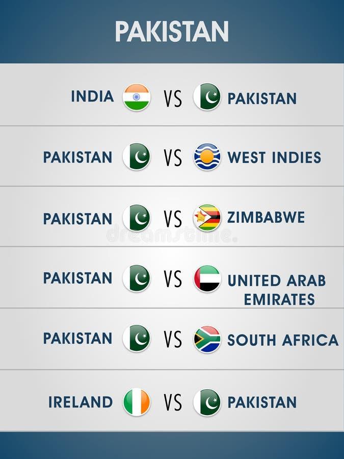 Programma delle partite della coppa del Mondo 2015 illustrazione di stock