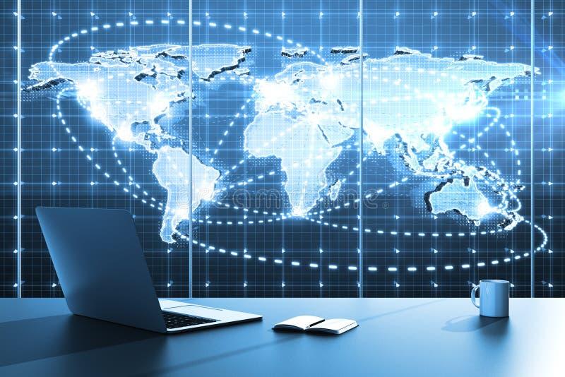 Programma di affari globali illustrazione di stock