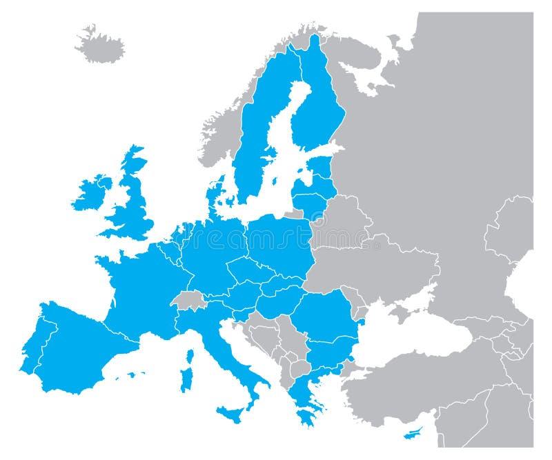 Programma di Europa illustrazione vettoriale