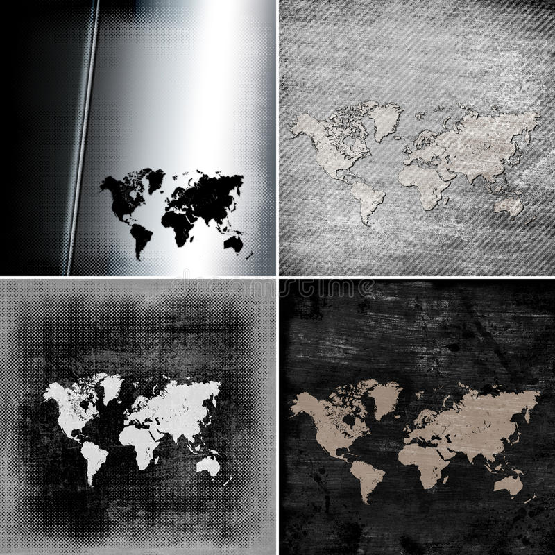 Programma di Grunge del mondo royalty illustrazione gratis