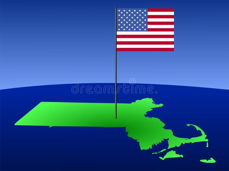 Download Programma Di Massachusetts Con La Bandierina Illustrazione Vettoriale - Illustrazione di profilo, aereo: 3139170