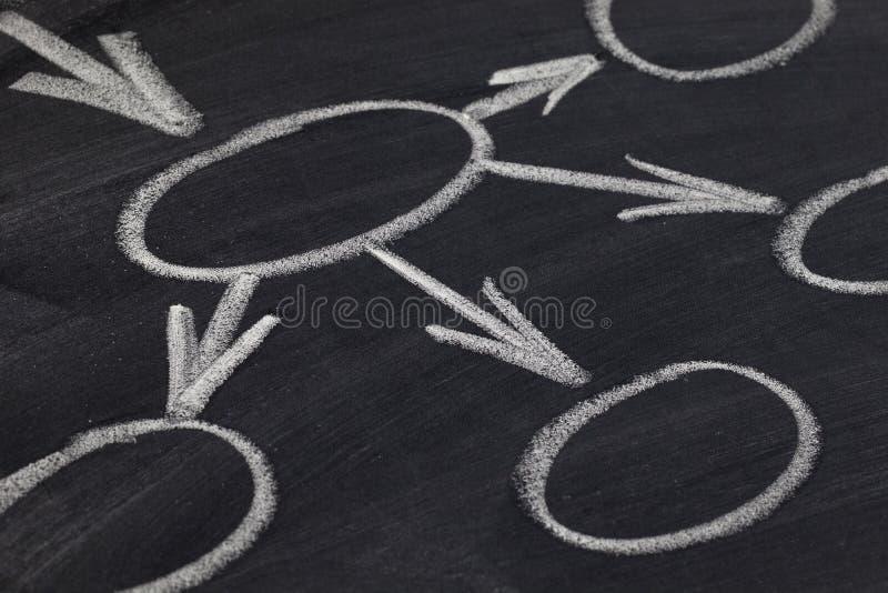 Programma di mente o del diagramma di flusso fotografia stock libera da diritti
