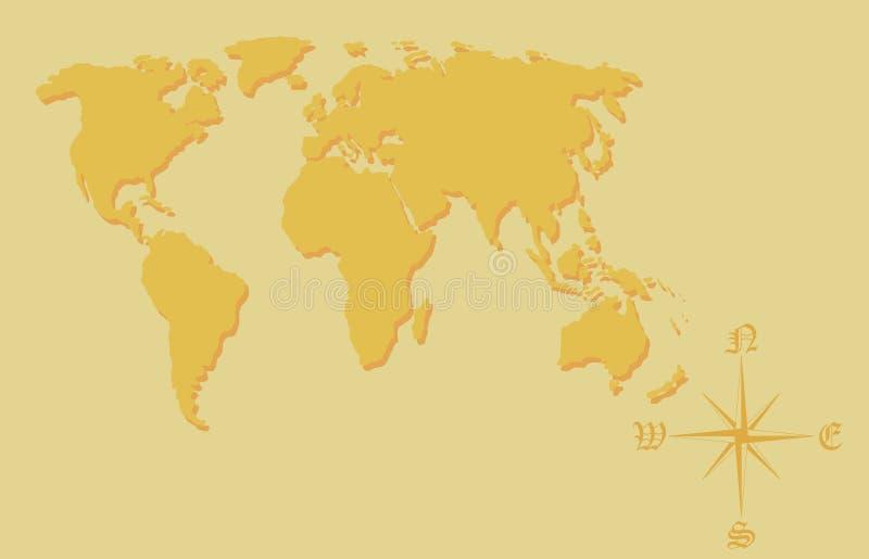 Mappa di mondo.