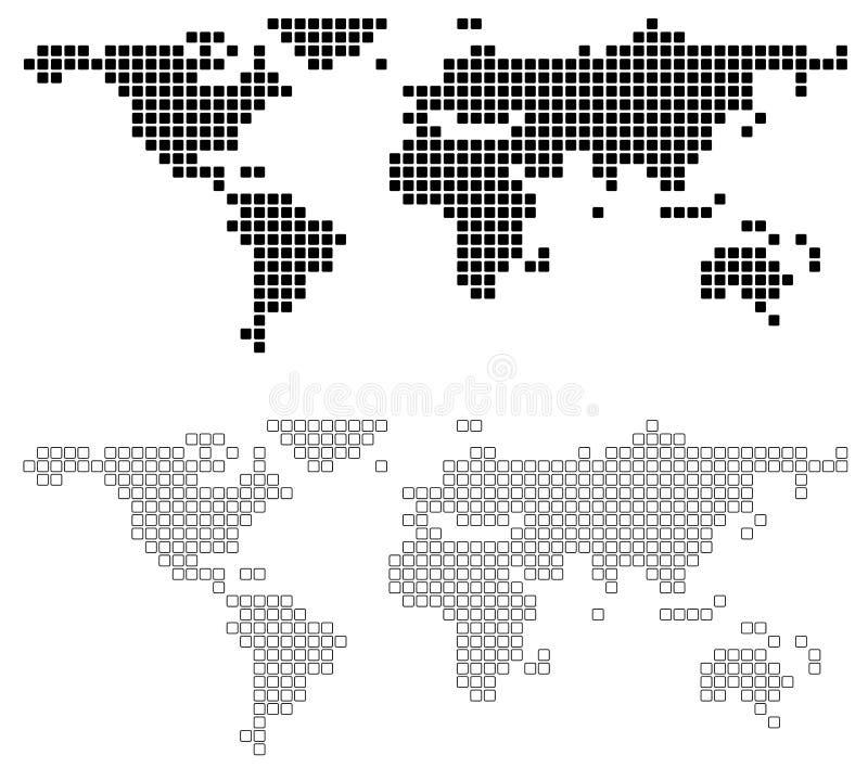 Programma di mondo astratto illustrazione vettoriale
