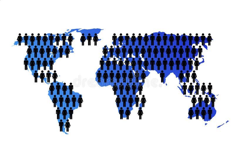 Programma di mondo con popolazione royalty illustrazione gratis