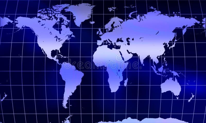 Programma di mondo del globo con la maglia illustrazione vettoriale