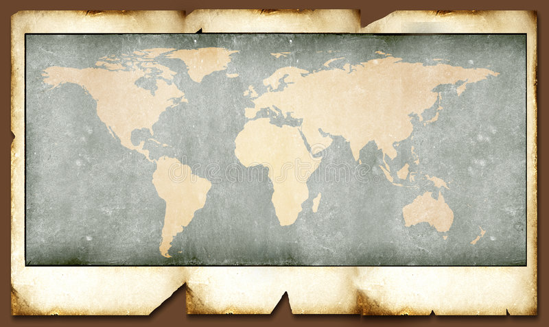 Programma di mondo dell'annata illustrazione di stock