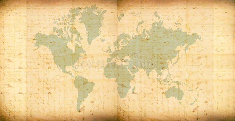 Programma di mondo dell'annata illustrazione vettoriale