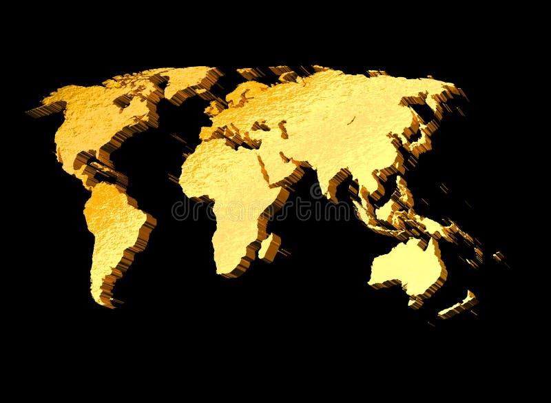 programma di mondo dell'oro 3d illustrazione di stock
