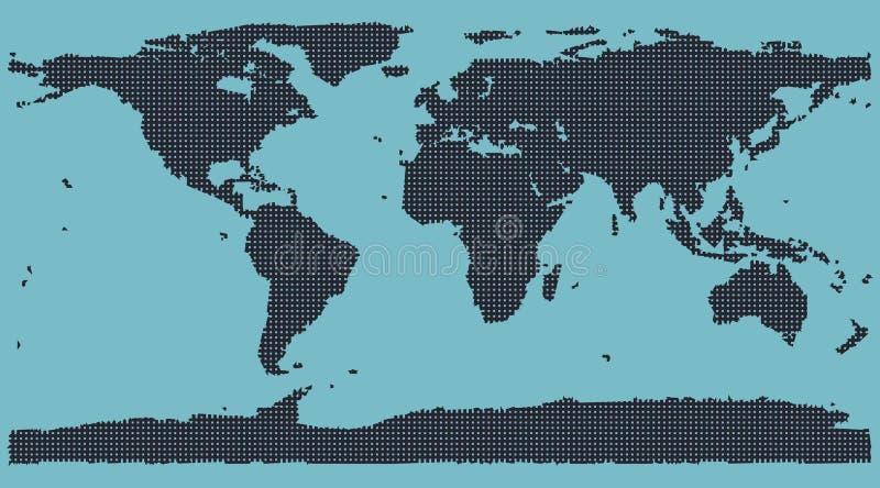 Programma di mondo della matrice a punti illustrazione di stock