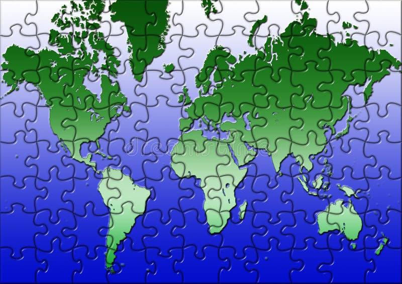 Programma di mondo di puzzle royalty illustrazione gratis